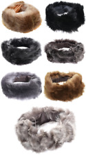 Ladies Taupe Olive Grey Black Beige Brown Toscana Sheepskin Leather Headband