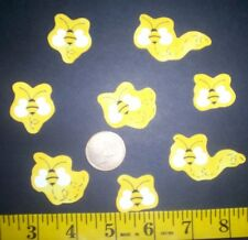 New! Cool! Cute Little Bumble Bees IRON-ONS FABRIC APPLIQUES IRON-ONS
