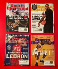 LEBRON JAMES Sports Illustrated Magazine Lot 4 Vtg RC Cleveland Cavaliers Lakers