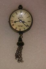 1882 OMEGA  RARE ANTIQUE MAGNIFIED GLASS BALL WATCH PENDANT RUNNING ((A6))