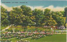 1930's postcard - Rose Garden, City Park, Reading, PA
