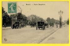 cpa PARIS Porte DAUPHINE Automobile Attelages à Mr JACQUEMIN OCRERIE de FRANCE