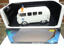 1/18 SOLIDO VW VOLKSWAGEN COMBI VITRE REF: 8031  SPECIAL DUTCH POLICE BUS NEW