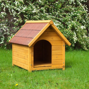 Wooden Dog Kennel, Winter Warm, House Weather, Waterproof Roof, PET, M, L, XXL