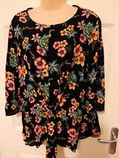PAPAYA LADIES FLORAL SOFT FEEL TOP 18