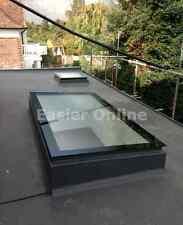 Double Glazed, Self-Cleaning Skylight Glass Rooflight w/ Kerb - 800x2300 CLEAR