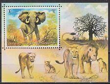 Umm Al Qiwain 1971 ** bl.34 ANIMALI ANIMALS ELEFANTE ELEPHANT gatti selvatici Wild Cats