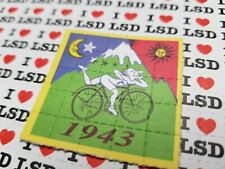 More details for bicycle day blotter art psychedelic art lsd blotter paper 25 tab sheet