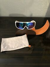 Spy Optic Tron Sunglasses White & Gold W/ Gold Gradient Lens With Case Rare