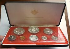 1972 CAYMAN ISLANDS - OFFICIAL PROOF COIN SET (8) w/ 4 SILVER COINS - 3 Oz