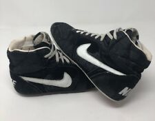 Vintage 1990 Nike Wrestling Shoes Black White Motion Size 7.5 GRECO SUPREME