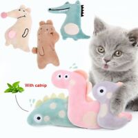 Cat Toy Mini Cat Grinding Catnip Toy Funny Interactive Plush Teeth Pet Kitten