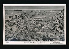 Devon BRIXHAM Town and Harbour c1940/50s? Aerial RP PPC by Aero Pictorial