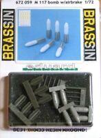 Eduard Brassin 1:72 M 117 Bombs With Airbrake Model Kit