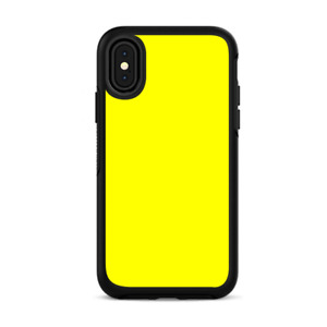 Skins for iPhone X Otterbox Defender Stickers - Bright Yellow