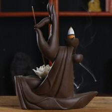Ceramic Buddha Statue Backflow Incense Burner Waterfall Backflow for Yoga-01