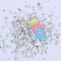 Colorful Opal Rhinestones Mixed size Flat Bottom 3D Nail Decoration Born Pretty