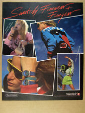 1986 Swatch Funwear & Fungear watch bag sweater clothing photos vintage print Ad