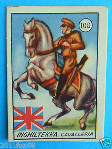 figurines cromos figurine v.a.v. vav 100 la guerra nostra inghilterra cavalleria