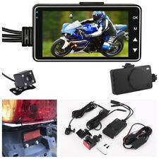 "3"" LCD 140°Motorcycle Car Dual Camera Video Recorder Waterproof External TF Card"