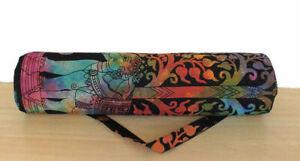Indian Cotton Strap Shoulder Yoga Mat Tote Gym Bag Handmade Adjustable Exercise