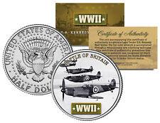 World War II BATTLE OF BRITAIN JFK  Kennedy Half Dollar US Coin