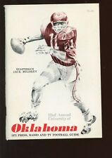 1971 NCAA Football Oklahoma Press Radio TV Media Guide EX+