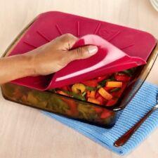 Norwex Silicone Bakeware Lid - SQUARE - Freezer, Fridge, Dishwasher, Oven Safe!