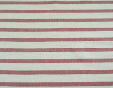 OUTDURA RED & NATURAL STRIPE OUTDOOR UPHOLSTERY ACRYLIC FABRIC $14.95/BTY 5078FS