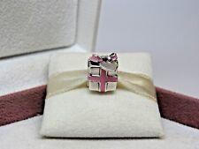 New w/Box Pandora Pink Wrapped With Love Present Charm # 791132EN24 RETIRED