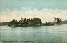 Massachusetts, MA, Worcester, Wapiti Club, Quinsigamond Lake 1911 Postcard