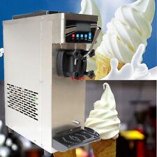 Single Flavor Soft Serve Ice Cream Machine Pre Cooling Ice Cream Cone Maker 110v
