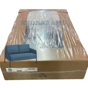 IKEA GLOSTAD Loveseat, Knisa medium blue Comfortable/metal Legs/100% polyester