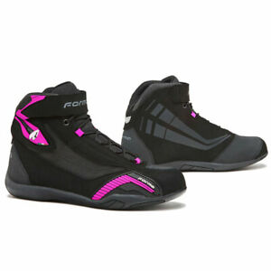 motorcycle boots womens | Forma Genesis Lady urban city street riding shoe pink