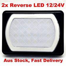 2 x  LED Reverse Lights Truck Trailer Caravan Bus Rectangle ADR Single Jumbo