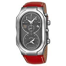 Philip Stein Men's Signature Red Leather Strap Dual Time Quartz Watch 300SDGCSTR