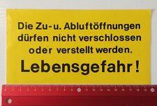 Aufkleber/Sticker: Warnschild Lebensgefahr (260416139)