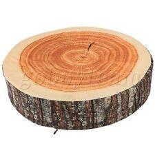 35.5x8cm Brown Tree Ring Back Cushion Stump Log Throw Pillow Home Office