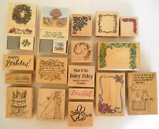 Lot of 21 Rubber Stamps Inkadinkado, Stampendous, Inky after dark .New