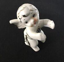 Rare Vintage Ceramic Tulle Angel Figure Made In Japan Nude Cherub Girl