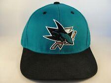 142a08cae San Jose Sharks NHL Reebok Snapback Hat Cap Teal Black