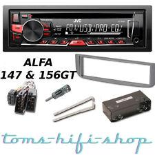 JVC CD USB MP3 Autoradio ALFA ROMEO 147 156 GT Radio + Adapter Blende Rahmen Set