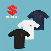 Suzuki T Shirt EMBROIDERED Auto Car Logo Tee Moto Sport Mens Clothing Motorcycle