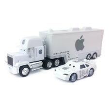 Disney Pixar Cars White Apple Mack Racer's Truck &  Apple Icar Toy Car Kids Gift
