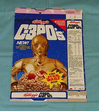 vintage Kellogg's C-3PO's CEREAL BOX (Yoda mask on back) Star Wars