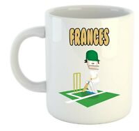 Frances - Cricket Personalizado Taza - Regalo para - Cenizas,Copa Del