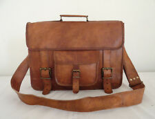 "16x12"" Leather Briefcase Messenger Bag Laptop Satchel Business Shoulder Bag"