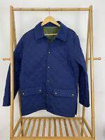 Vineyard Vines Men's Quilted Snap Button Corduroy Collar Blue Jacket Size L