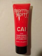 CAI Frightful Nights Temporary Hair Color Styling Gel - PINK NEW - 1.71 FL OZ 2a