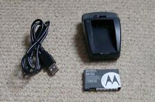 BR50 batería y base de carga para teléfonos móviles Motorola V3 Razr U6